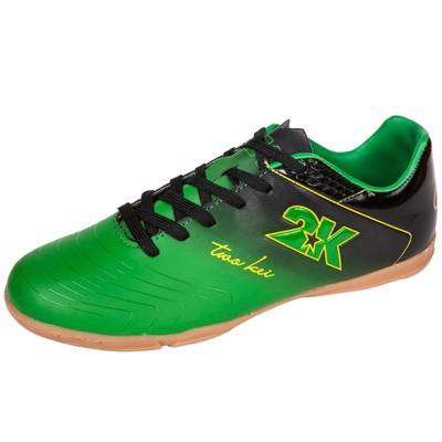 Бутсы футзальные 2K Sport Santos, green/black, размер 41