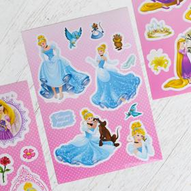 Наклейки детские в наборе 'Ты принцесса', Принцессы, 3 шт Ош