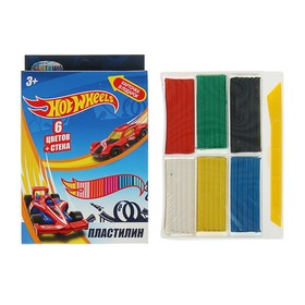 Пластилин 6 цветов, 120 г, Hot Wheels, стек Ош