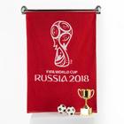 """Полотенце махровое """"FIFA  кубок"""" 50х90 см, цвет Красный 400г/м², хл. 100%"""