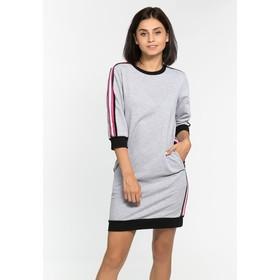 Платье с лампасами MINAKU, размер 42, цвет серый