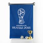 """Полотенце махровое """"FIFA  кубок"""" 50х90 см, цвет Синий 400г/м², хл. 100%"""