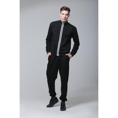 Костюм спортивный мужской MINAKU, размер 50, цвет чёрный