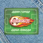 Значок деревянный «Волгоград» (летящий мяч), 5,2 х 2,4 см