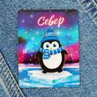 """Значок деревянный """"Север"""" (пингвин), 3,1 х 4,1 см"""