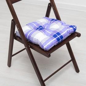Подушка для стула АДЕЛЬ Оксфорд 35*35 см, полисатин Ош