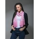 """Палантин Этель """"Сердце"""", размер 60 х 180 см, цвет розовый, вискоза"""