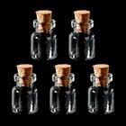 Набор стеклянных бутылочек  с пробкой (5 шт) 1,3х1,8х0,6 см