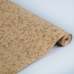 Бумага обёрточная 'Полёт', коричневый, 0,52 х 25 м, 80г/м2 Ош