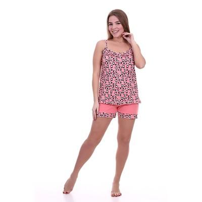 Пижама женская (майка, шорты) ПК258 коралловый, р-р 46