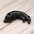 Статуэтка фарфороваяя «Кот» №2, чёрный, 1,5см