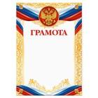 Грамота, РФ символика, золотая, 21х29,7 см