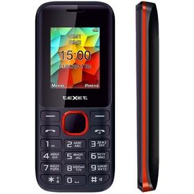 Сотовый телефон TEXET TM-129 Black Red, черно-красный
