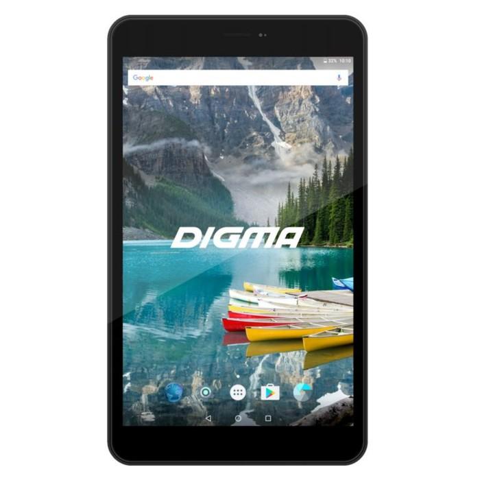 "Планшет Digma Plane 8558 LTE Graphite Black 8"" IPS,1280x800,1Gb+16Gb,2Mp, цвет черный графит  344415"