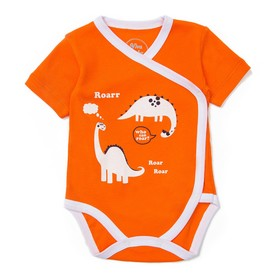 Боди детское, рост 56 см, цвет оранжевый D1112-61_М