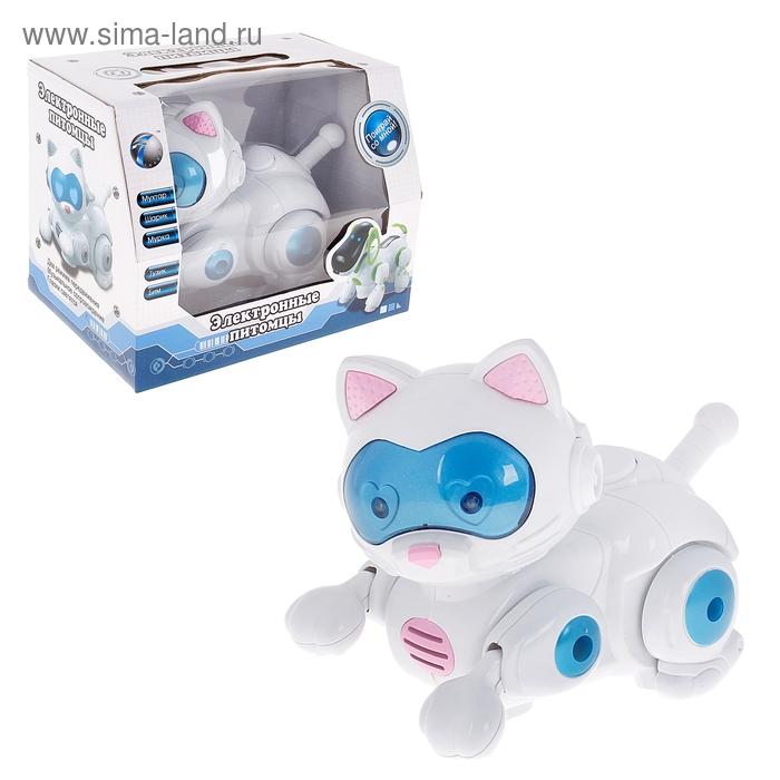"""Робот Электронные питомцы """"Кошка"""", работает от батареек, световые и звуковые эффекты"""
