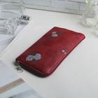 Чехол для телефона 195-006,13*0,8*7,5 отдел на молнии,розы цвет МИКС