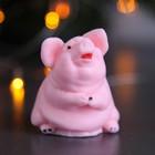 """Мыло фигурное """"Свинка сидит"""" розовая 100гр"""