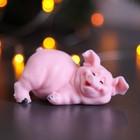 """Мыло фигурное """"Свинка лежит"""" розовая 65гр"""