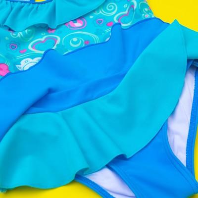 """Купальник слитный для девочки """"Мороженое"""", рост 98-104 см (3-4 года), вид 1, цвет бирюзовый"""