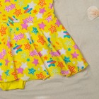"""Купальник для девочки """"Конфетти"""", рост 104-110 см (4-5 лет), цвет жёлтый"""