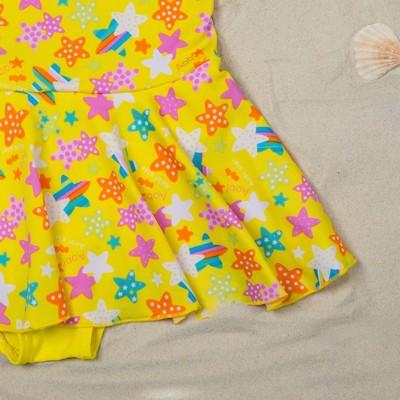"""Купальник слитный для девочки """"Конфетти"""", рост 104-110 см (4-5 лет), цвет жёлтый"""