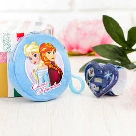 """Подарочный набор """"Анна и Эльза"""" часы + кошелек, Холодное сердце"""