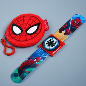 """Подарочный набор """"Круче всех"""" часы + кошелек, Человек-паук"""