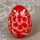Яйцо «Гжель», красное, 7 см