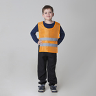 Детский жилет строителя со светоотражающими полосами, рост 98-130 см, цвет оранжевый