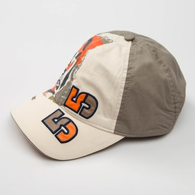 """Кепка """"Бейсболка"""" для мальчика, размер 54-56, цвет бежевый 3827"""