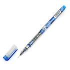 Ручка гелевая 0,5мм синяя корпус с рисунком безстержневая игольчатый пишущий узел кристалл