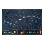 Карта Звездного неба 60*90см Светящаяся в темноте Кр701п