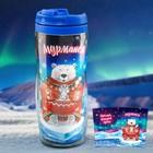 """Термостакан """"Мурманск. Медведь с тюленем"""", 300 мл."""