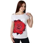 Футболка (блузка) женская Королева цвет белый, р-р 58
