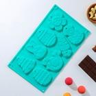"""Форма для шоколада """"Животные"""", 8 ячеек, цвет шоколадный"""
