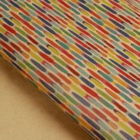 Бумага упаковочная крафт 'Дождик', 70 х 100 см, Ош