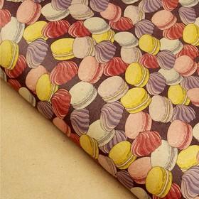 Бумага упаковочная крафт 'Удовольствие', 70 х 100 см Ош