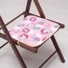 Сидушка на стул Амор розовый 35х35см, канвас/спанбонд 240г/м, х/б 60%, п/э 40%