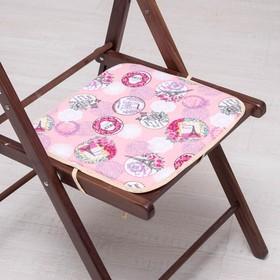 Сидушка на стул Амор розовый 35х35см, канвас/спанбонд 240г/м, х/б 60%, п/э 40% Ош