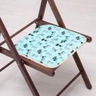 Сидушка на стул Котята на бирюзе 35х35см, канвас/спанбонд 240г/м, х/б 60%, п/э 40%