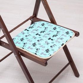 Сидушка на стул Котята на бирюзе 35х35см, канвас/спанбонд 240г/м, х/б 60%, п/э 40% Ош