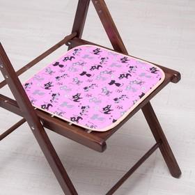 Сидушка на стул Котята на розовом 35х35см, канвас/спанбонд 240г/м, х/б 60%, п/э 40% Ош