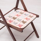 Сидушка на стул Кролики 35х35см, канвас/спанбонд 240г/м, х/б 60%, п/э 40%