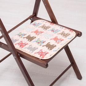 Сидушка на стул Кролики 35х35см, канвас/спанбонд 240г/м, х/б 60%, п/э 40% Ош