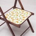 Сидушка на стул Ласточки на желтом 35х35см, канвас/спанбонд 240г/м, х/б 60%, п/э 40%
