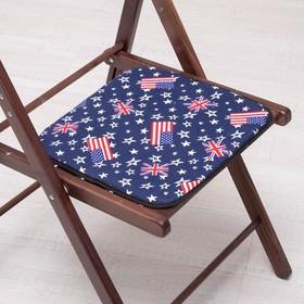 Сидушка на стул Флаги 35х35см, канвас/спанбонд 240г/м, х/б 60%, п/э 40% Ош
