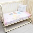 Простыня детская 145*100, зайка-мишка-розовый, бязь, хл100%