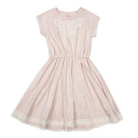 Платье для девочки, рост 98 см, цвет розовый меланж ПЛ193