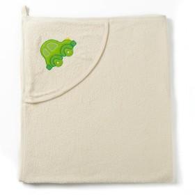 Полотенце с уголком и рукавицей, размер 90х90, цвет белый, махра, хл100% Ош